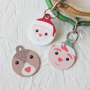 Christmas Pet Tags Santa's Workshop Friends