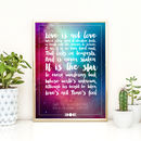 Personalised Favourite Song Lyrics Or Quote Print