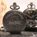 Engraved Pocket Watch With Personalised Monogram