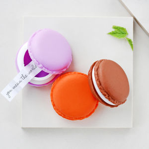 Macaroon Pop Your Question Gift Box - ribbon & wrap