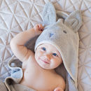 Beau Bunny Hooded Baby Towel