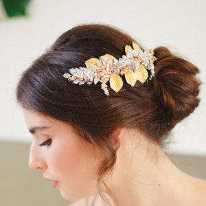 Arabella Statement Botanical Bridal Hair Comb