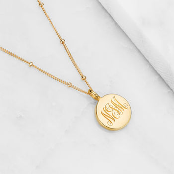 Gold, Silver Or Rose Large Personalised Disc Necklace