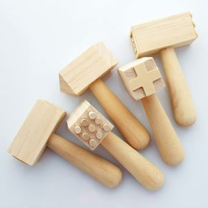 Set Of Five Wooden Dough Hammers - winter sale