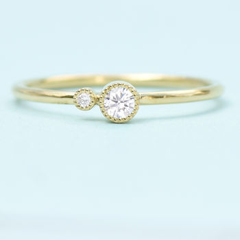 Diamond Stacking Ring, Solid 18ct Gold