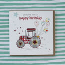 Birthday Card With Tractor Theme