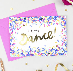 'Let's Dance!' Birthday Confetti Card