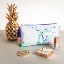 Green Marble Large Wash Bag