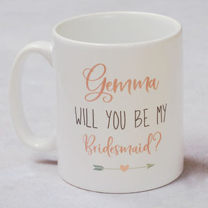Be My Bridesmaid/Maid Of Honour Gift Mug - new in home