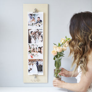 Personalised Wedding Giant Photo Strip - children's room