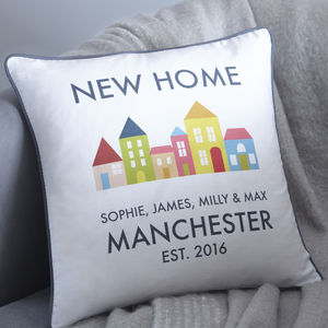 Personalised New Home Cushion - bedroom