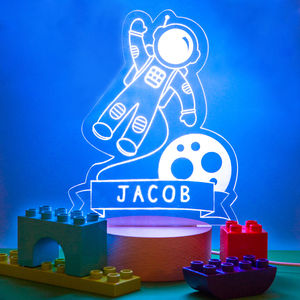 Personalised Childrens Astronaut Night Light - bedroom