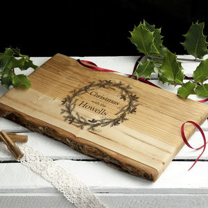 Personalised Welsh Ash Christmas Serving Board - what's new