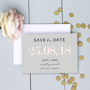 Modern Traditional Pastel Save The Date