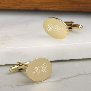Solid Gold Cufflinks - 50th anniversary: gold