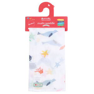 Baby Sealife Muslin Swaddle Wrap