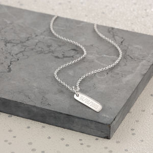 Personalised Small Bar Necklace