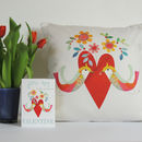 Little Birds Heart Cushion
