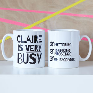 Personalised 'Very Busy' Mug - dining room