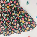 Girls Handmade Christmas Navy Bauble Party Dress