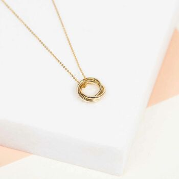 9ct Yellow Gold Russian Wedding Ring Pendant