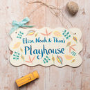 personalised treehouse sign adapted to your own wordings