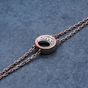18ct Rose Gold And Diamond Bracelet - jewellery sale