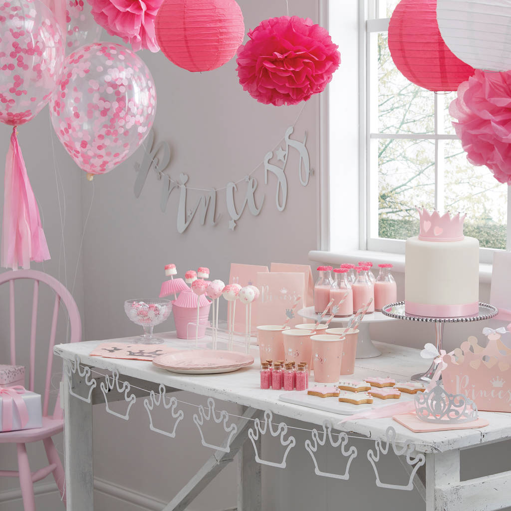 Pink And Silver Foiled Princess Party Bags