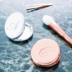 Personalised Monogram Hand Mirror - party essentials