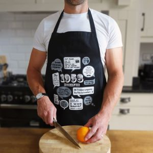 'Events Of 1958' 60th Birthday Gift Apron - aprons
