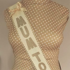 Baby Shower 'Mum To Be' Fabric Sash - baby shower decorations