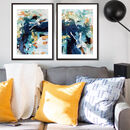 Abstract Wall Art Print Set From Original Painting
