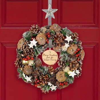 All The Trimmings Personalised Luxury Christmas Wreath