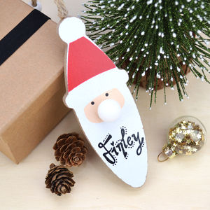Personalised Father Christmas Hanging Decoration - new in christmas