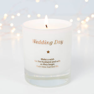 Wedding Day Candle - wedding gifts