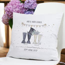 Personalised Wedding Welly Boot Cushion
