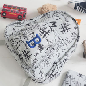 Large Personalised Graffiti Backpack - men's accessories
