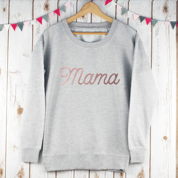 Rose Gold Mama Ladies Sweatshirt