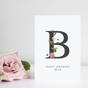Personalised Floral Alphabet Cards - shop by category