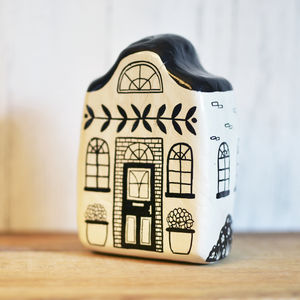 Hand Painted Ceramic House - ornaments