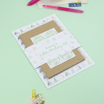 Personalised Seaside Letter Writing Set