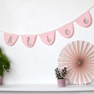 Personalised Scalloped Glitter Bunting - decorative accessories