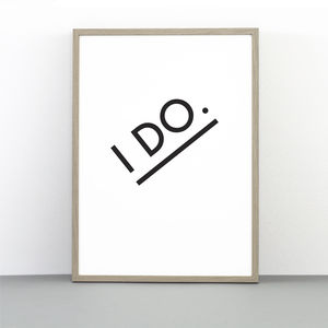 I Do Print - typography