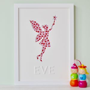 Personalised Child's Fairy Picture - baby's room