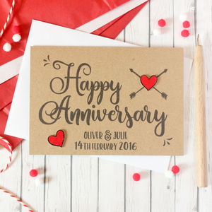 Personalised Anniversary Card, Happy Anniversary Card