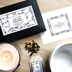 12 Reasons Why We Are Friends Personalised Tea Gift Set - tea & infusions