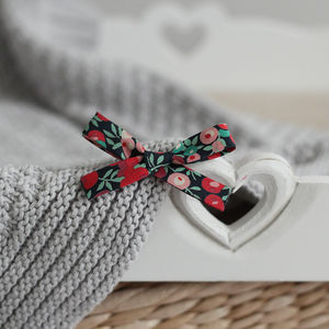 Liberty Petite Christmas Bow Hairband