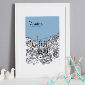 Personalised Barcelona Print - drawings & illustrations