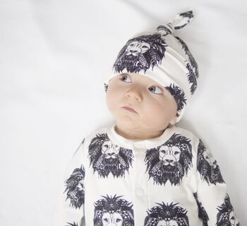 Organic Aztec Lion Toddler And Baby Romper
