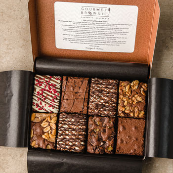 Gourmet Brownie Gift Box: A Selection Of Favourites